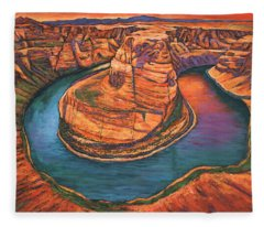 Horseshoe Bend Sunset Fleece Blanket