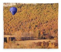 Hot Air Balloon, Beynac, France Fleece Blanket