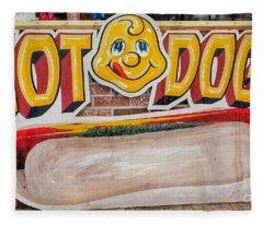 Hot Dogs Fleece Blanket
