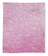 Hot Pink Glitter Fleece Blanket
