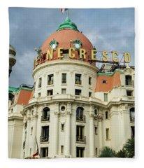 Hotel Negresco Nice France Fleece Blanket