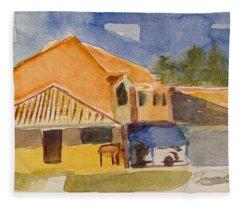 House Across The Way Fleece Blanket