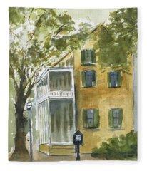 House On George Street Fleece Blanket