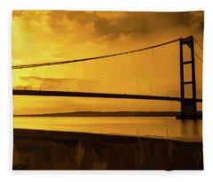 Humber Bridge Golden Sky Fleece Blanket