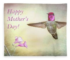 Hummer-happy Mother's Day Fleece Blanket