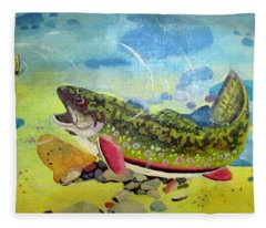 Hungry Trout Fleece Blanket