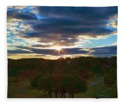 Hunt Valley Sunset Fleece Blanket