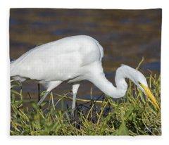 Hunting Heron Fleece Blanket