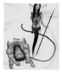 Huntress - Artwork Fleece Blanket