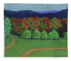 Hutchins Farm In Fall Fleece Blanket