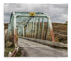 Hwy 552 Bridge Fleece Blanket