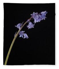 Hyacinthoides Hispanica Fleece Blanket