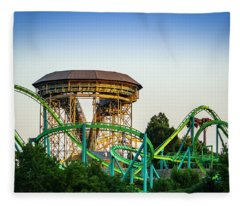 Hydra At Dorney Park Fleece Blanket