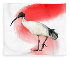 I Is For Ibis Fleece Blanket