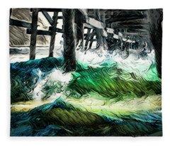 I Like That Wave Too Fleece Blanket