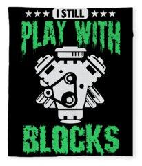 Engine Block Digital Art Fleece Blankets