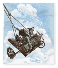 I Want To Fly Fleece Blanket