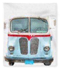 Ice Cream Food Truck Metro Van Fleece Blanket
