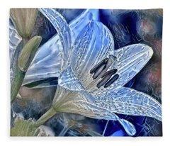 Ice Lily Fleece Blanket