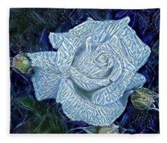 Ice Rose Fleece Blanket