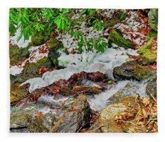 Ice Snake Bass Lake Fleece Blanket