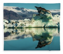 Iceberg, Jokulsarlon Fleece Blanket
