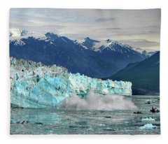Iceberg Splash Hubbard Glacier Fleece Blanket