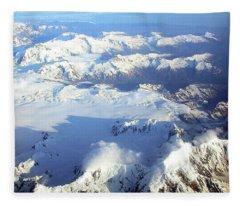 Icebound Mountains Fleece Blanket