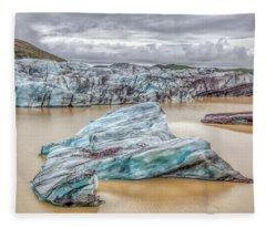 Iceberg Of Iceland Fleece Blanket