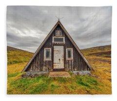 Iceland Chalet Fleece Blanket