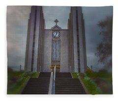 Iceland Landmark Fleece Blanket