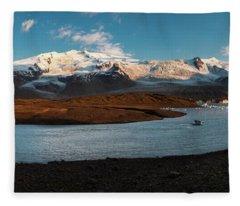 Iceland Panorama Fleece Blanket
