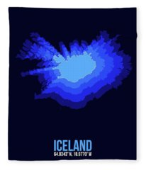 Iceland Radiant Map IIi Fleece Blanket