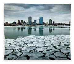 Icy Skyline Fleece Blanket