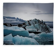 Icy Stegosaurus Fleece Blanket