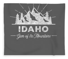 Idaho T Shirt Vintage Hiking Retro Tee Design Fleece Blanket