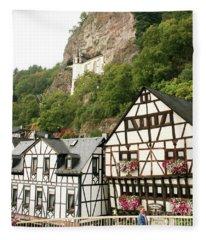 Idar-oberstein-view On A Bridge Fleece Blanket