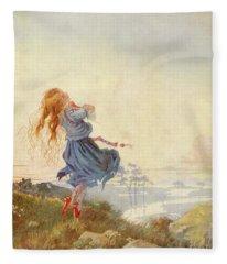 Illustration For The Red Shoes Fleece Blanket
