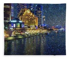 Impression Of Melbourne Fleece Blanket