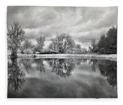 In The Quiet Spaces Of The Mind Fleece Blanket