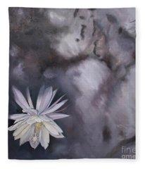 In The Shadows-night Blooming Cereus Fleece Blanket