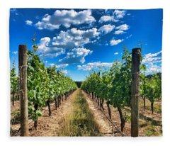 In The Vineyard Fleece Blanket