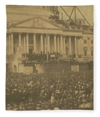 Inauguration Of Abraham Lincoln, March 4, 1861 Fleece Blanket