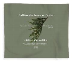 Incense Cedar - White Text Fleece Blanket