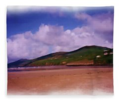 Inch Beach Painting Fleece Blanket