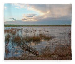 Incoming In The New Jersey Pine Barrens Fleece Blanket