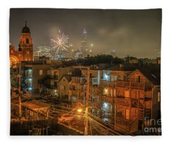 Independence Day In Chicago Fleece Blanket
