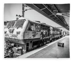 Indian Train  Fleece Blanket