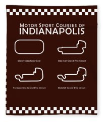 Indianapolis Courses Fleece Blanket
