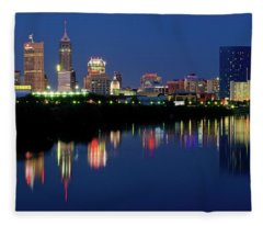 Indianapolis Night 2017 Fleece Blanket